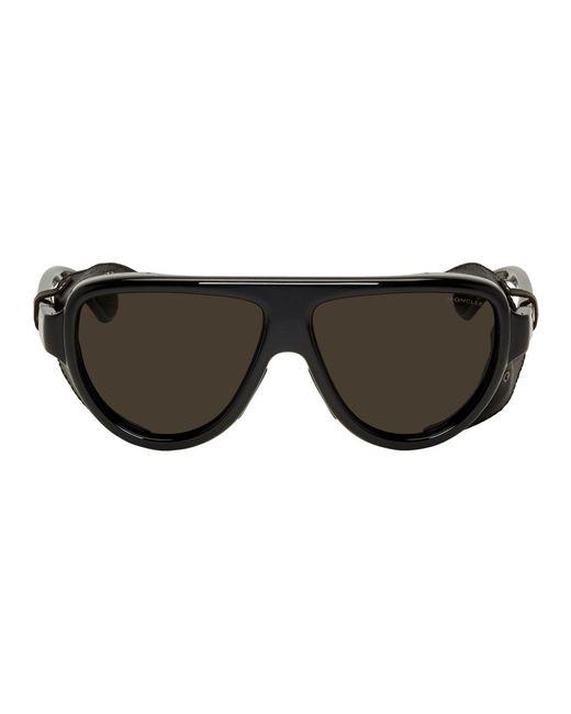 メンズ Moncler ブラック Ml 0089 サングラス Black