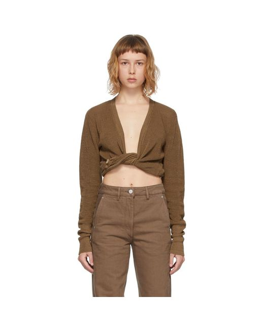 Jacquemus ブラウン Le Gilet Noue セーター Brown
