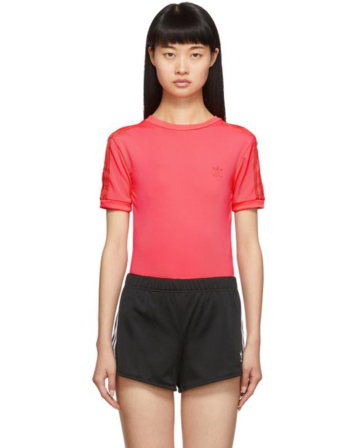 Adidas Originals ピンク ショート スリーブ ボディスーツ Pink