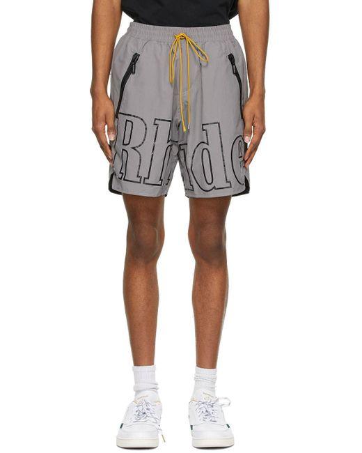 メンズ Rhude Ssense 限定 グレー & ブラック Rh ロゴ ショーツ Gray
