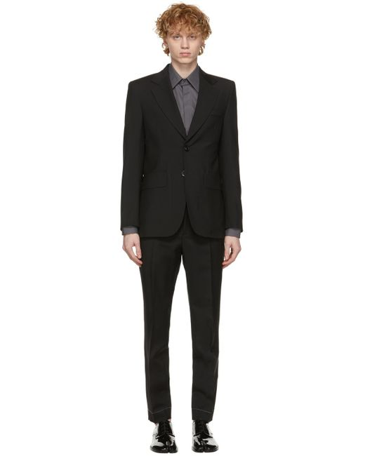 メンズ Maison Margiela ブラック スーツ Black