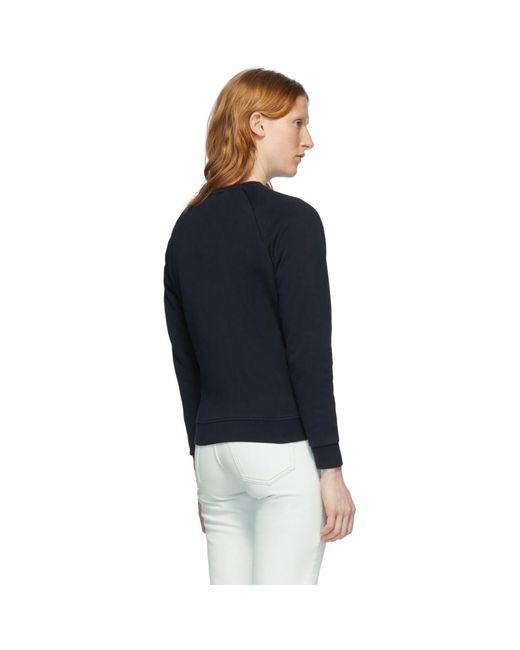 Maison Kitsuné ネイビー トリコロール フォックス スウェットシャツ Blue