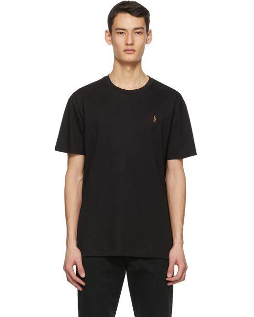 メンズ Polo Ralph Lauren ブラック クルーネック T シャツ Black