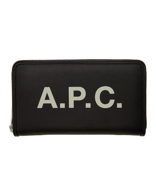 A.P.C. ブラック Morgan コンチネンタル ウォレット Black