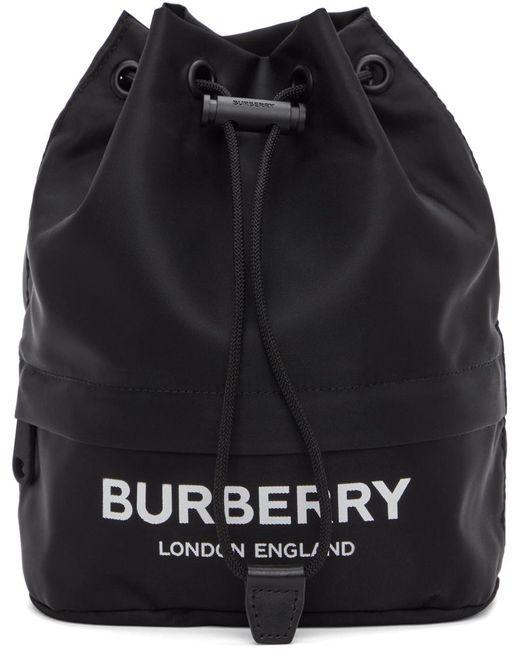 メンズ Burberry ブラック エコニール® Phoebe ポーチ Black