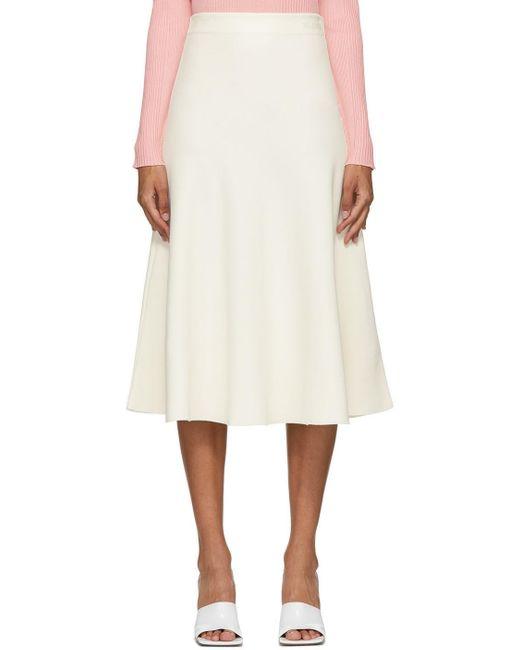 Valentino オフホワイト クレープ Couture スカート White