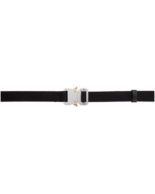1017 ALYX 9SM Metallic Black Medium Rollercoaster Belt for men