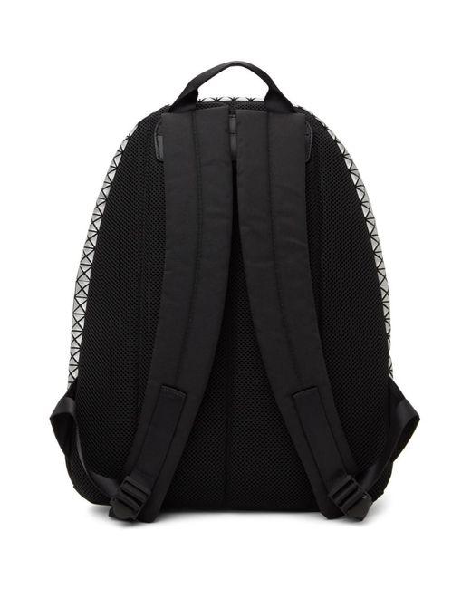 メンズ Bao Bao Issey Miyake シルバー Daypack バックパック Metallic