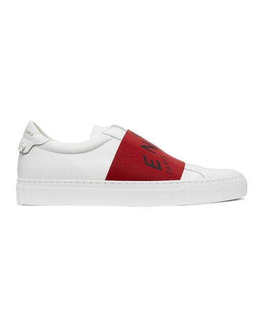メンズ Givenchy ホワイト And レッド Urban Knots スニーカー Red