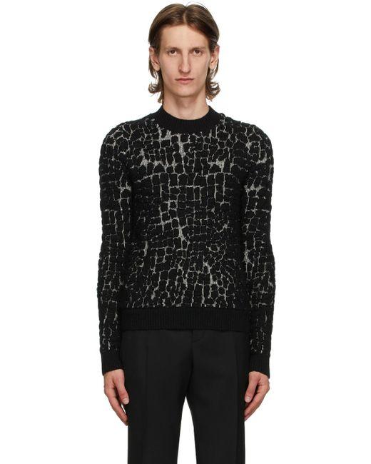 メンズ Saint Laurent ブラック ウール & モヘア セーター Black