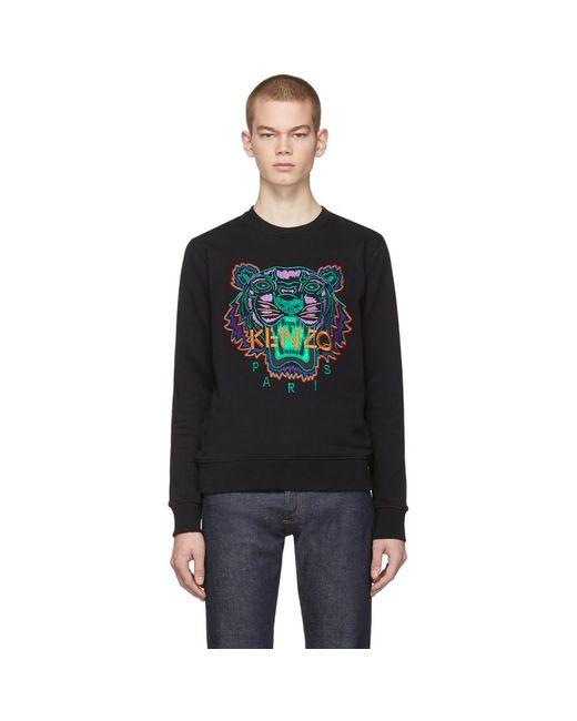 メンズ KENZO 限定エディション Holiday コレクション ブラック タイガー スウェットシャツ Black