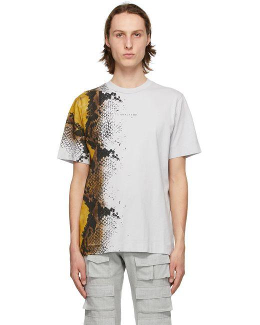 メンズ 1017 ALYX 9SM グレー Animal Print T シャツ Gray