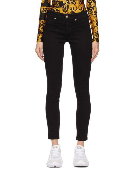 Versace Jeans ブラック レギンス ジーンズ Black