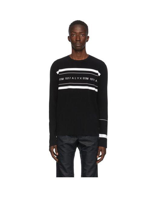メンズ 1017 ALYX 9SM ブラック ニット ロゴ セーター Black