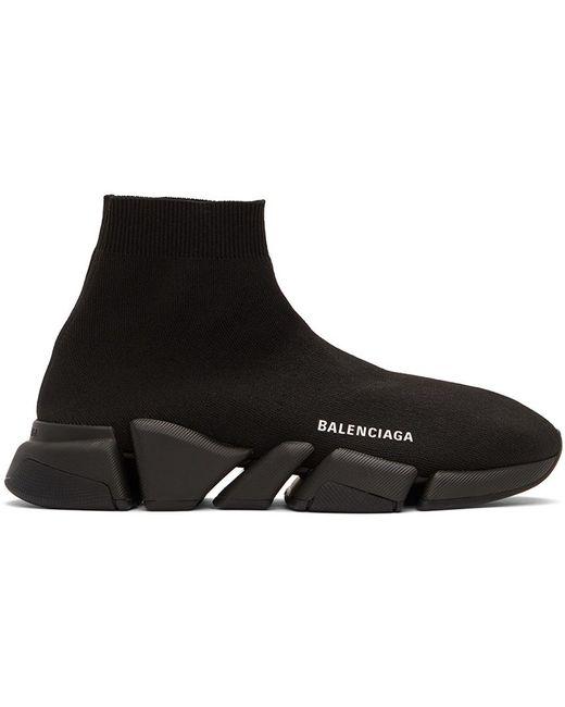 メンズ Balenciaga ブラック Speed 2.0 スニーカー Black