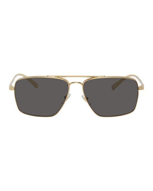 Lunettes de soleil carrees dorees Greca Versace pour homme en coloris Metallic