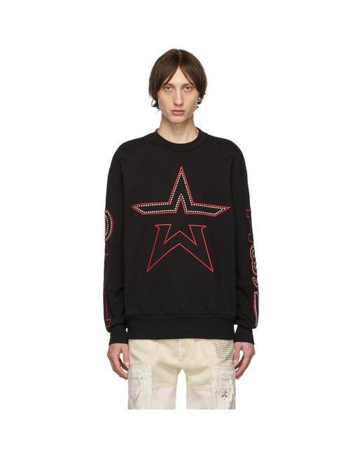 メンズ DIESEL ブラック S-bay-studs スウェットシャツ Black