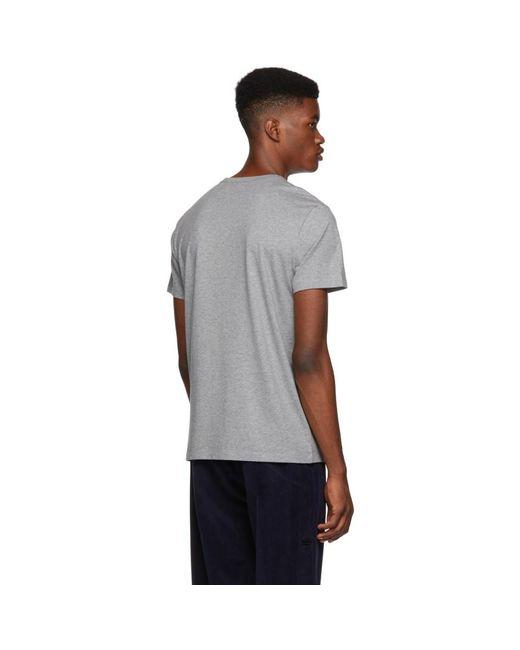 T-shirt gris Maglia Moncler pour homme en coloris Gray