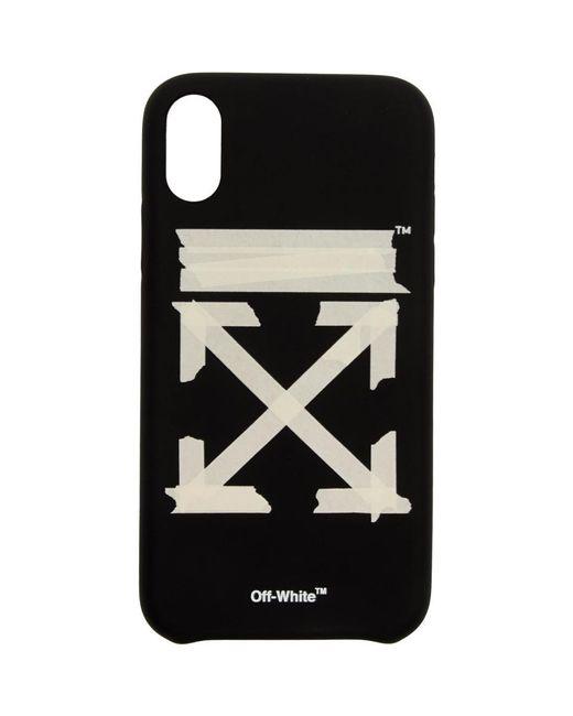 メンズ Off-White c/o Virgil Abloh ブラック And ベージュ テープ アロー Iphone Xr ケース Black