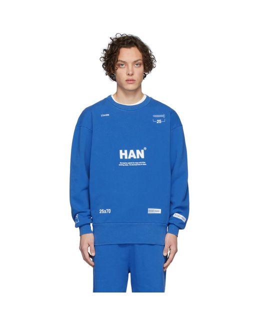 メンズ Han Kjobenhavn ブルー Bulky クルー スウェットシャツ Blue