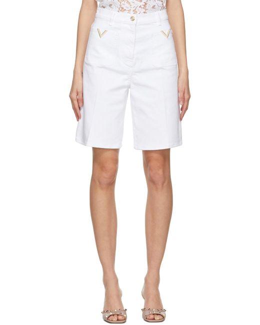 Valentino ホワイト バミューダ ショーツ White