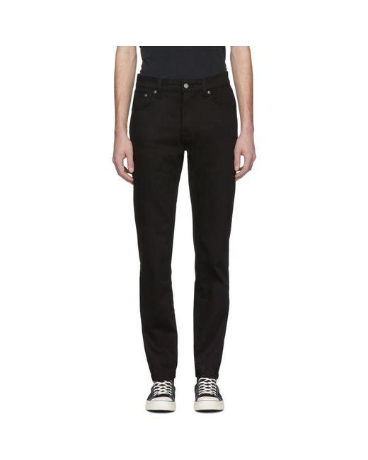 メンズ Nudie Jeans ブラック Steady Eddie ジーンズ Black