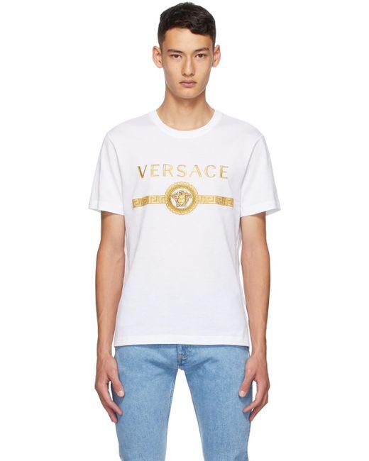 メンズ Versace ホワイト ビンテージ Medusa Taylor T シャツ White