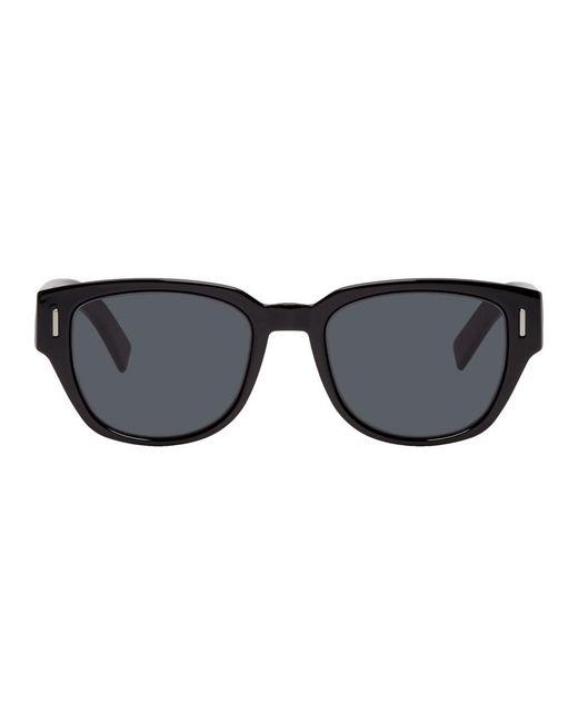 メンズ Dior Homme ブラック Diorfraction3 サングラス Black