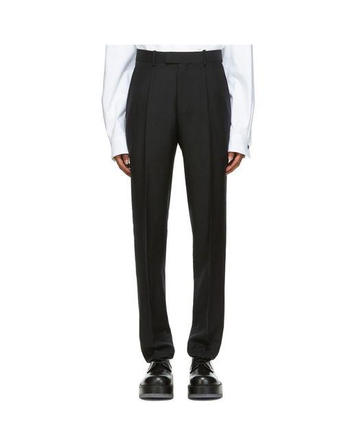 Bottega Veneta Black Washed Mohair Trousers for men