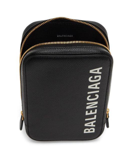 Balenciaga ブラック Cash フォン ホルダー バッグ Black