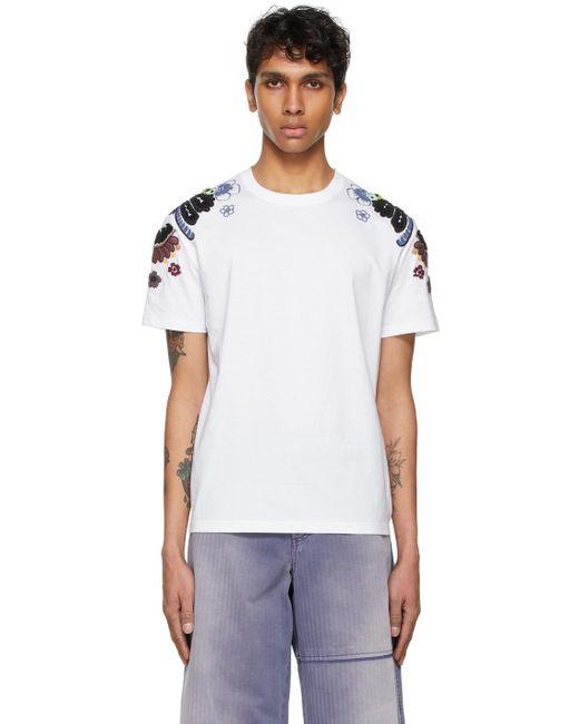 メンズ Valentino ホワイト T シャツ White