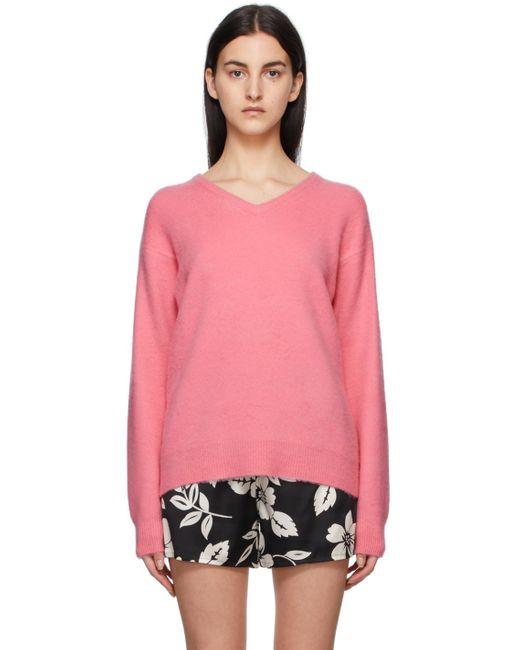 Tom Ford ピンク カシミア V ネック セーター Pink