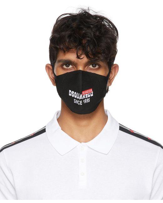 メンズ DSquared² ブラック ロゴ マスク Multicolor