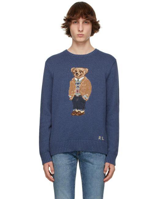 メンズ Polo Ralph Lauren ブルー Polo Bear セーター Blue
