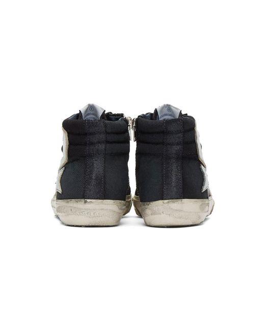 f64aaffe4e693 ... Golden Goose Deluxe Brand - Blue Navy Denim Slide High-top Sneakers for  Men ...