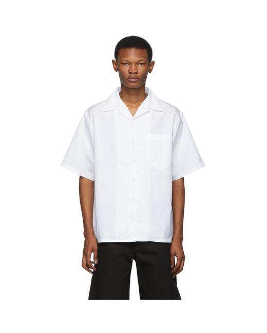 メンズ Prada ホワイト ポプリン シャツ White