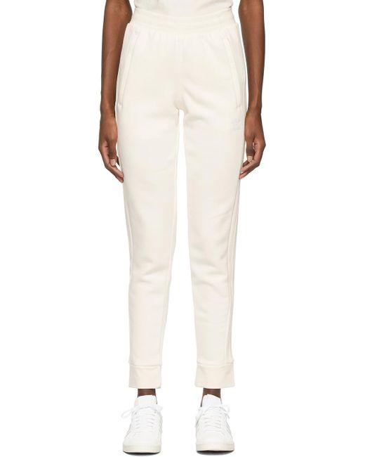 Adidas Originals オフホワイト 3 Stripes ラウンジ パンツ White