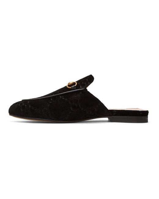986842ee60db Lyst - Gucci Princetown GG Slipper in Black - Save 30%