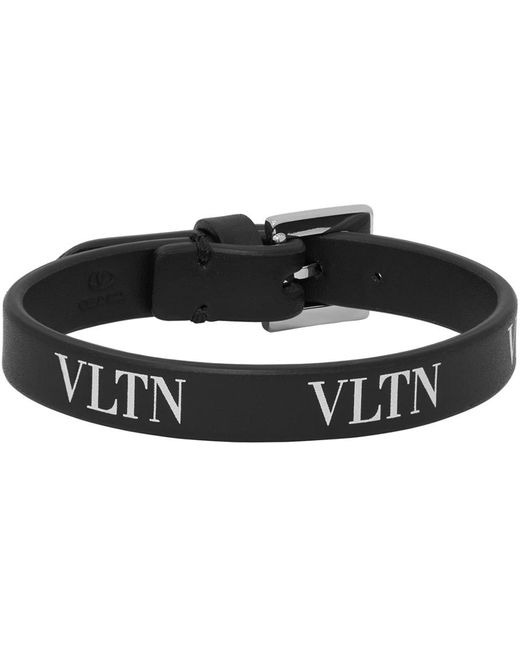 メンズ Valentino Garavani コレクション ブラック Vltn ブレスレット Black