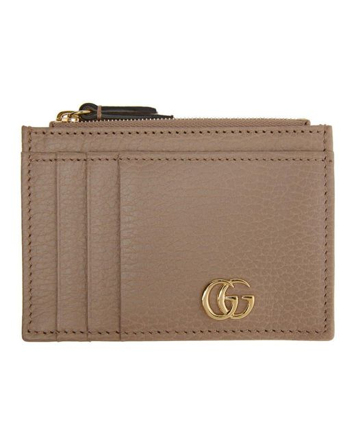 Gucci Multicolor Pink Marmont Zip Card Holder