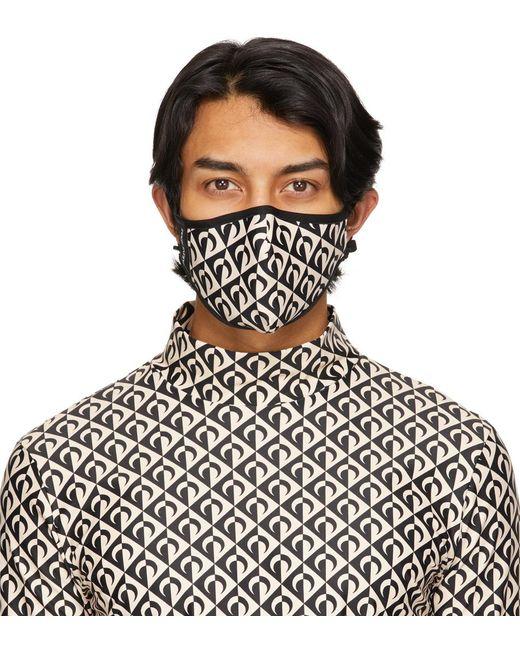 メンズ MARINE SERRE ブラック & タン ムーン Daily Wear マスク Multicolor