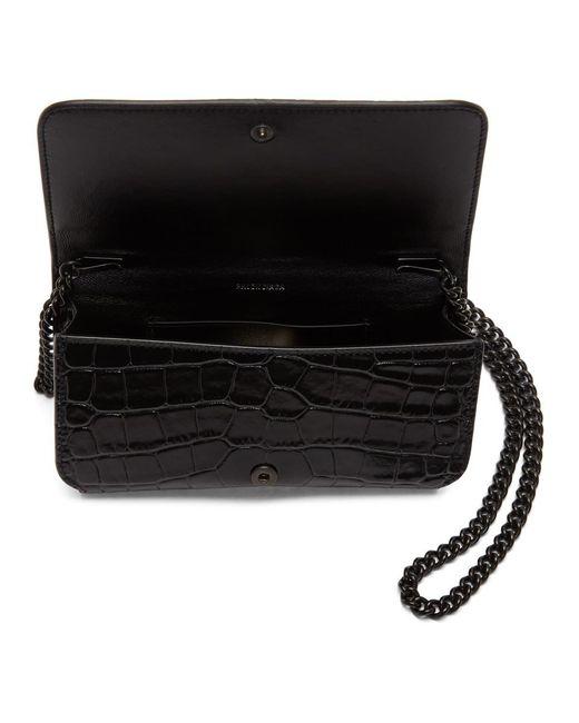 Balenciaga ブラック Bb フォン ケース チェーン ショルダー バッグ Black
