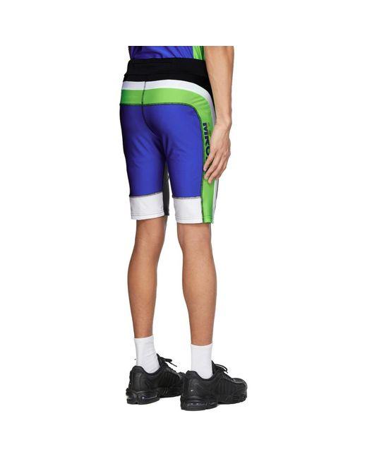 メンズ Martine Rose Ssense 限定 ブラック And ブルー サイクリング ショーツ Blue