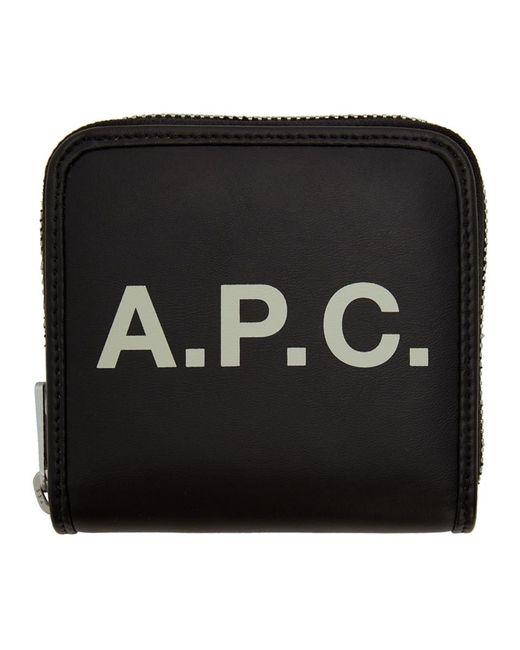 A.P.C. ブラック コンパクト Morgan ウォレット Black