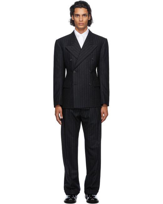 メンズ Maison Margiela ブラック ウール スーツ Black