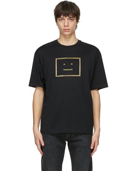 メンズ Acne ブラック T シャツ Black
