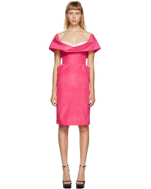 Moschino ピンク カウル ネック ショート ドレス Pink