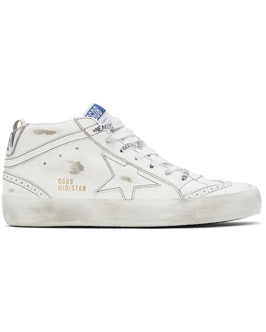 Golden Goose Deluxe Brand White Mid Star Sneakers for men