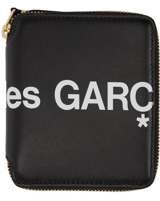 Comme des Garçons ブラック ヒュージ ロゴ ジップ アラウンド ウォレット Black