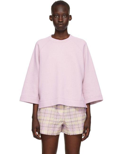 Ganni パープル オーバーサイズ スウェットシャツ Pink